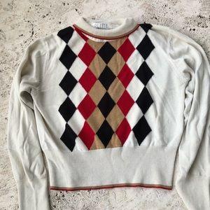 Vintage Argyle Turtle Neck Sweater